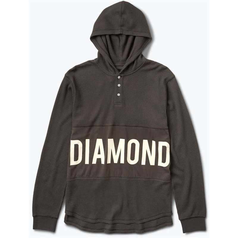mikina DIAMOND - Winston Hooded Thermal Brown (BRN)