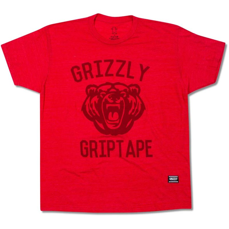 triko GRIZZLY - Athletic Dept Tee Red (RED)