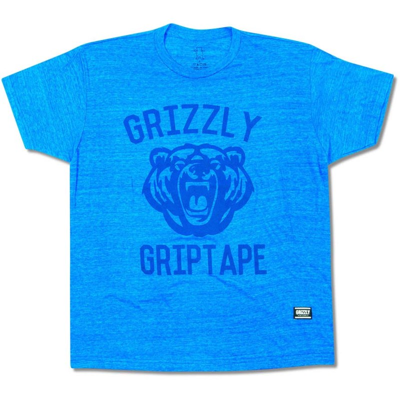 triko GRIZZLY - Athletic Dept Tee Blue (BLUE)