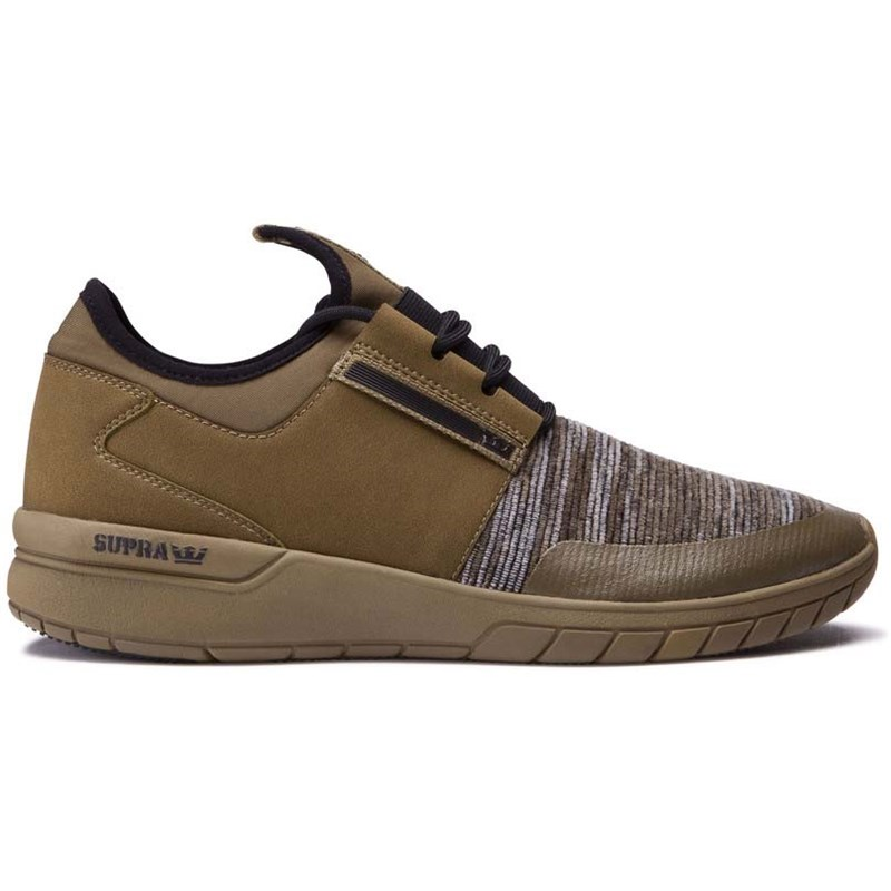 boty SUPRA - Flow Run Olive Multi-Olive (950)