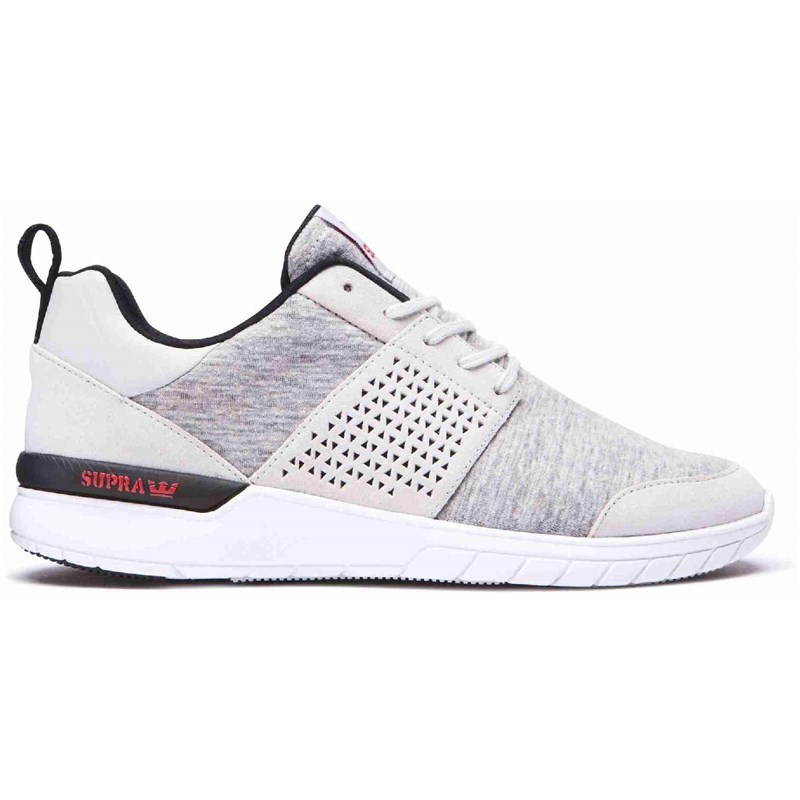 boty SUPRA - Scissor Light Grey-Red (040)