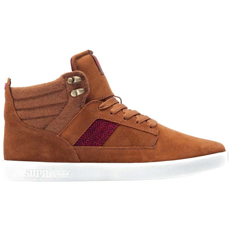 boty SUPRA - Bandit Brown/Red Herringbone-Wht (240)