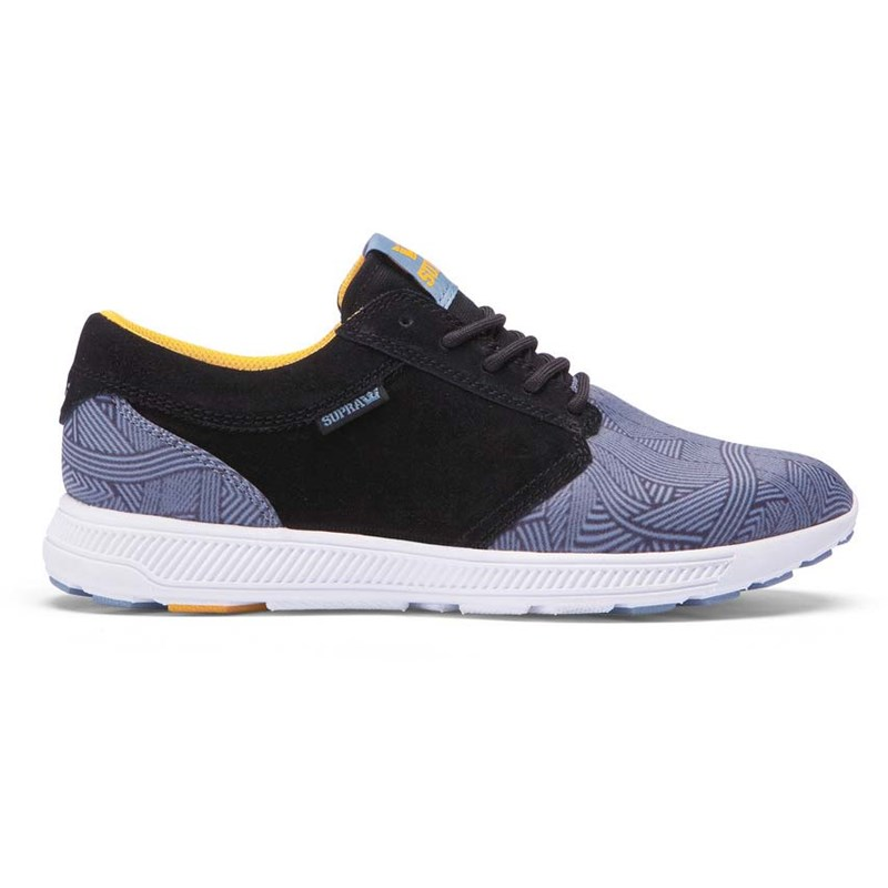 boty SUPRA - Hammer Run Black Blue Print - White (022)