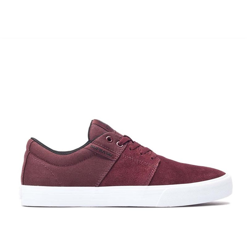 boty SUPRA - Yorek Low Burgundy/White (650)