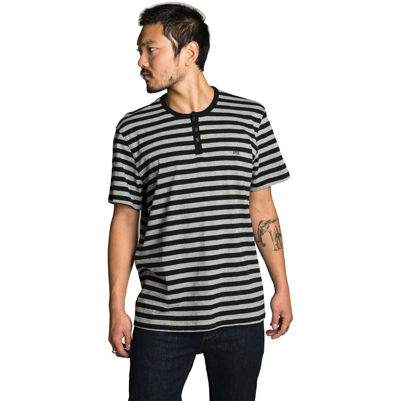 triko KREW - Daze Black-Heather Grey Stripe (078)