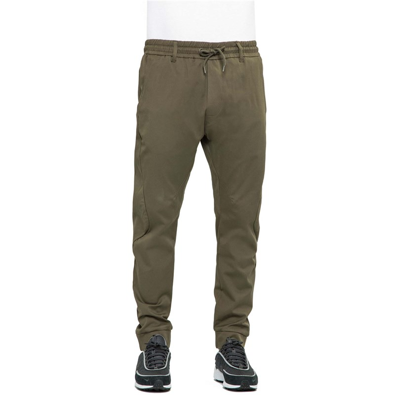 kalhoty REELL - Flow Pant Olive (160)