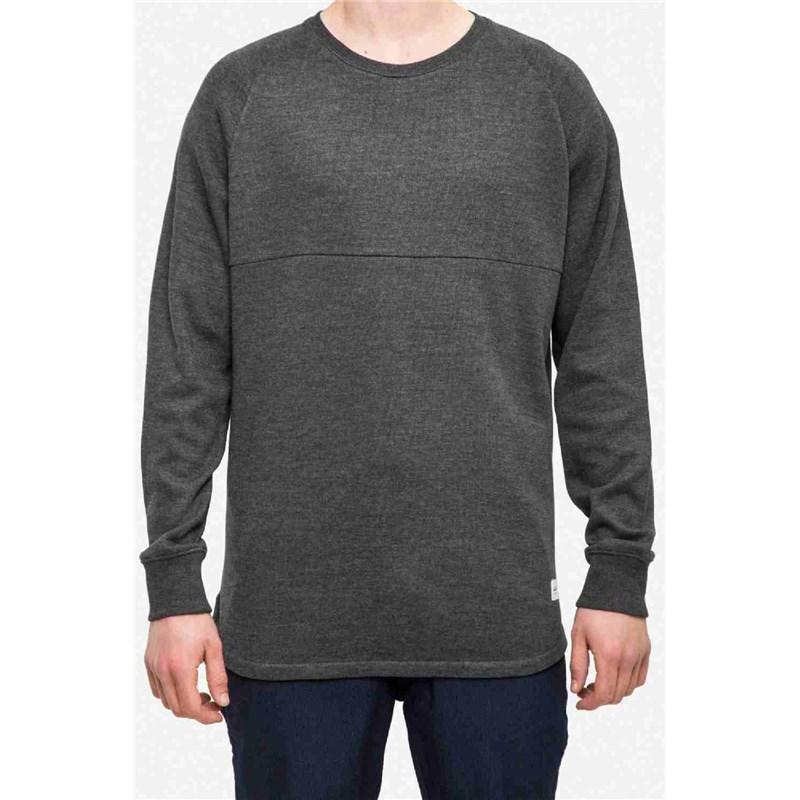 triko REELL - Raglan Longsleeve Anthracite Grey (ANTHRACITE GREY) 9c0be81237