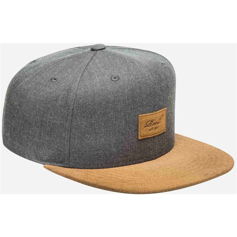 kšiltovka REELL - Suede 6-Panel Cap Heather Charcoal (HEATHER CHARCOAL)