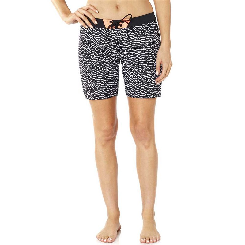 koupáky FOX - Chargin Boardshort Black/White (018)