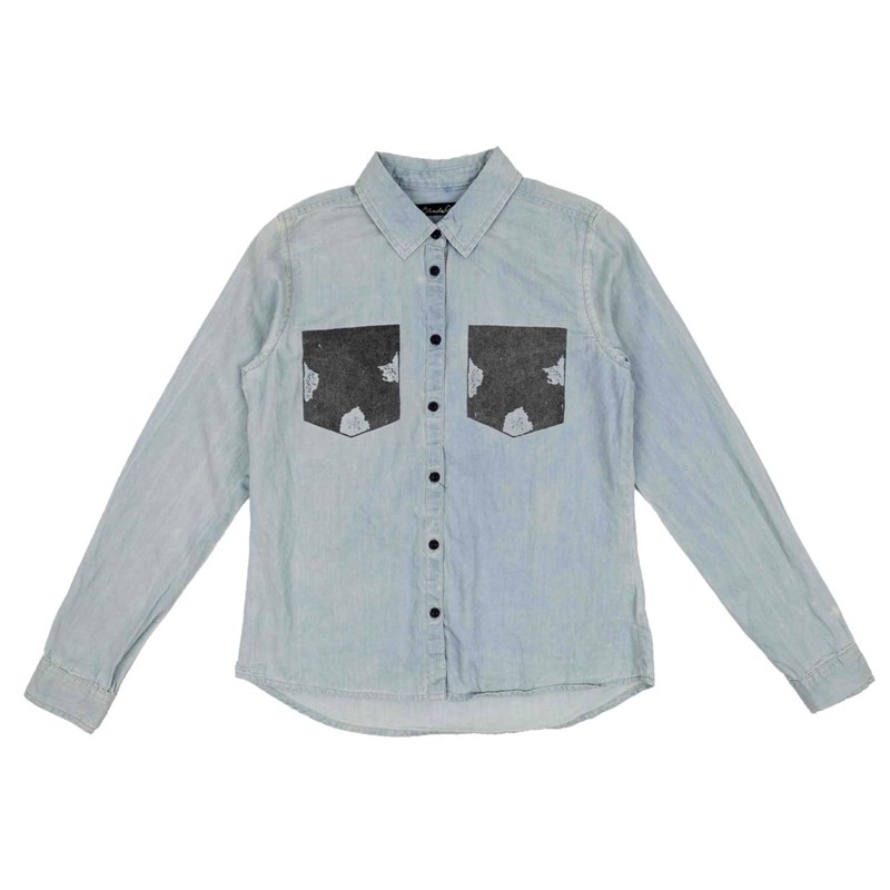 košile BLEND SHE - Adel Patch Shirt Bleached Lg. Blue (29029)