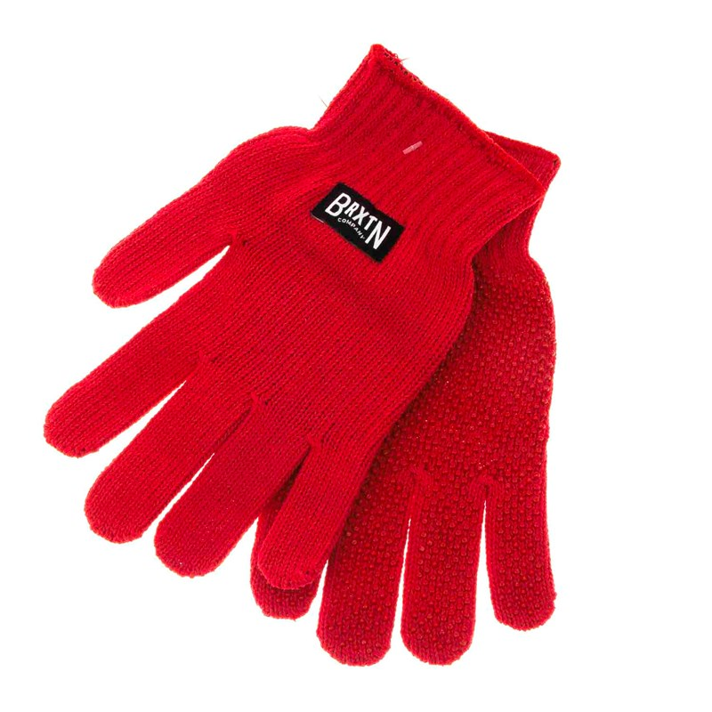rukavice BRIXTON - Langley Gloves Red (RED)
