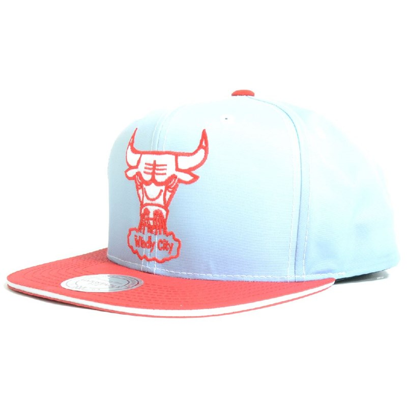 kšiltovka MITCHELL & NESS - The Fade 2 Tone Leather Chicago (BULLS)