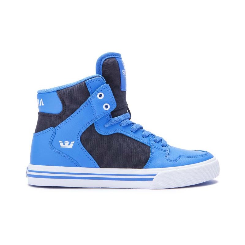boty SUPRA - Vaider Blue/Black-White (415)