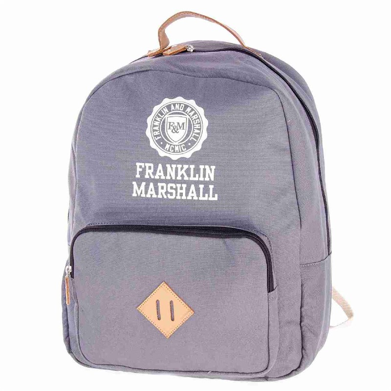 batoh FRANKLIN & MARSHALL - Classic backpack - grey solid (04)