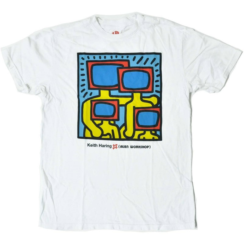 triko ALIEN WORKSHOP - Haring Tv Family Strtus Wht (BILA)