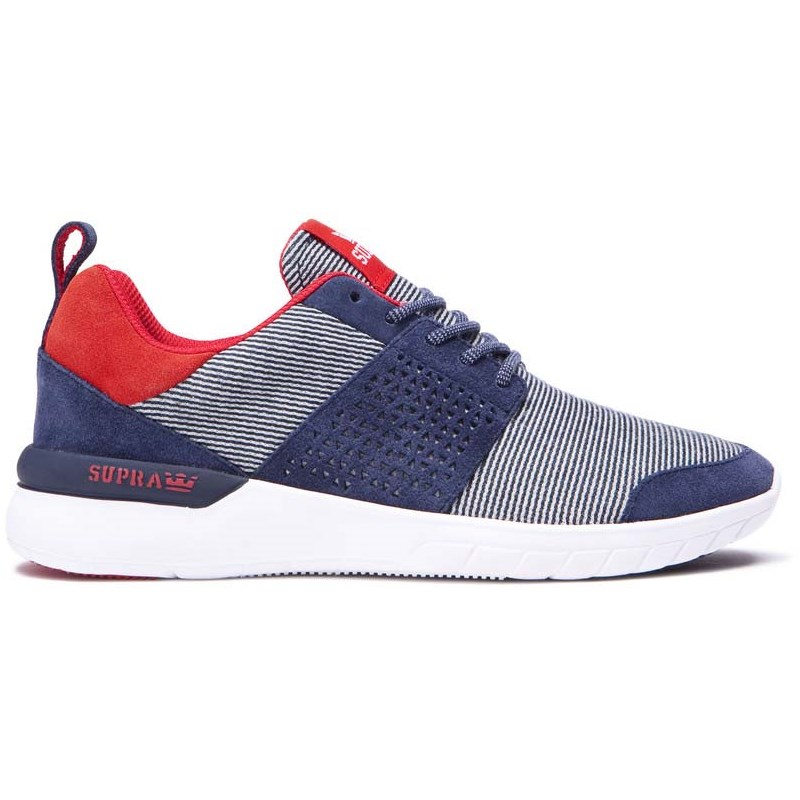 boty SUPRA - Scissor Navy/Red-White (448)