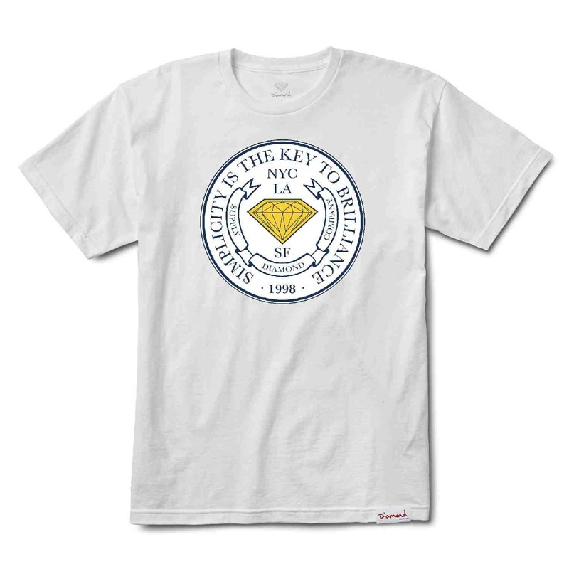 triko DIAMOND - Stamp Of Approval Tee White (WHT)