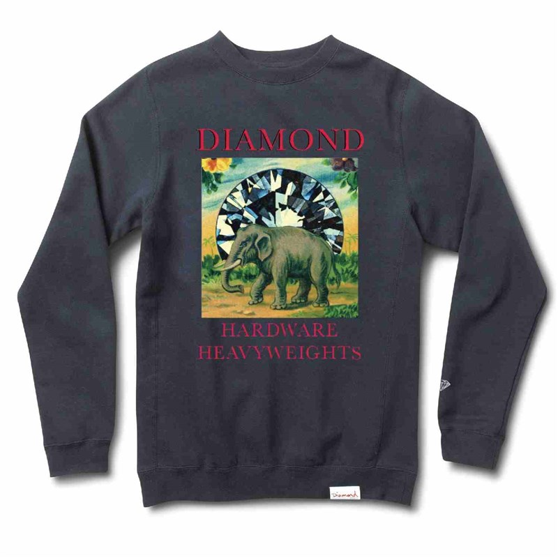 mikina DIAMOND - Indigenous Crewneck Navy (NVY)