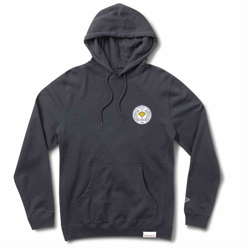 mikina DIAMOND - Stamp Of Approval Hoodie Navy (NVY)