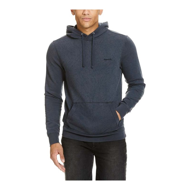 mikina BENCH - Aop Hoodie Total Eclipse (NY031)