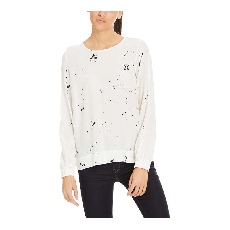 košile BENCH - Print And Solid Mix Shirt Splash Snow White (P1089)