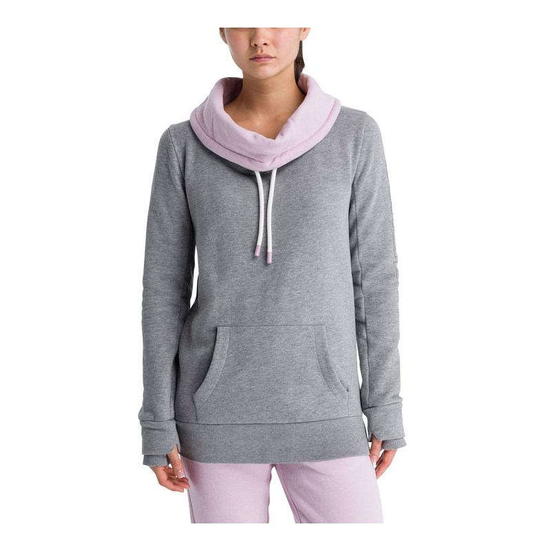 svetr BENCH - Her. Corp Open Neck Funnel Printed Winter Grey Marl (MA1054)