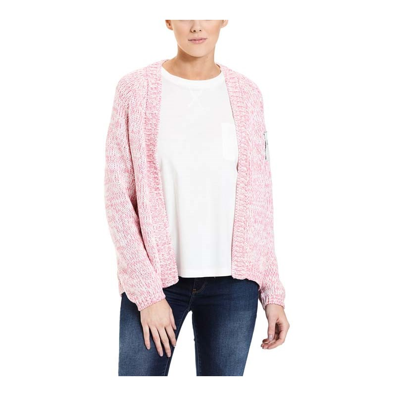 svetr BENCH - Cardigan Short Chateau Rose (PK052)