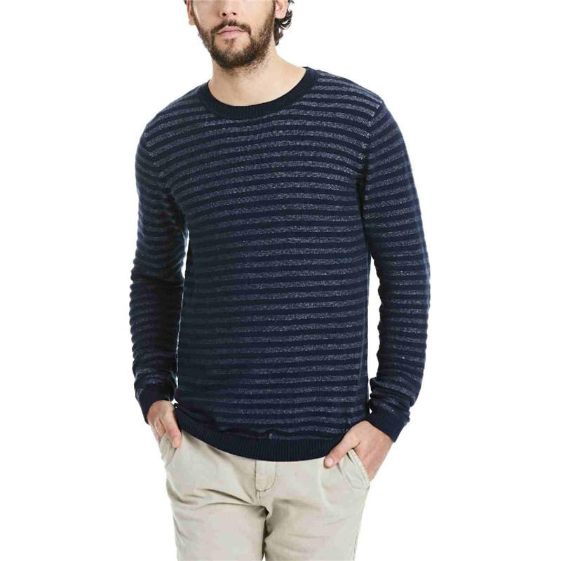 mikina BENCH - Knitwear Dark Navy Blue Marl (NY031X)