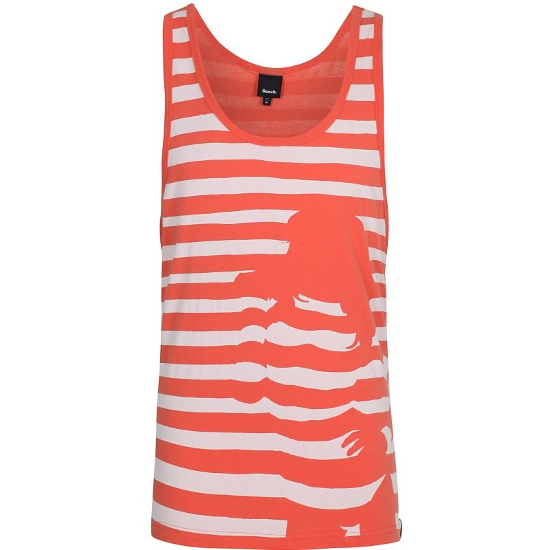 tílko BENCH - Stripey Chick Vest Orange (OR048)