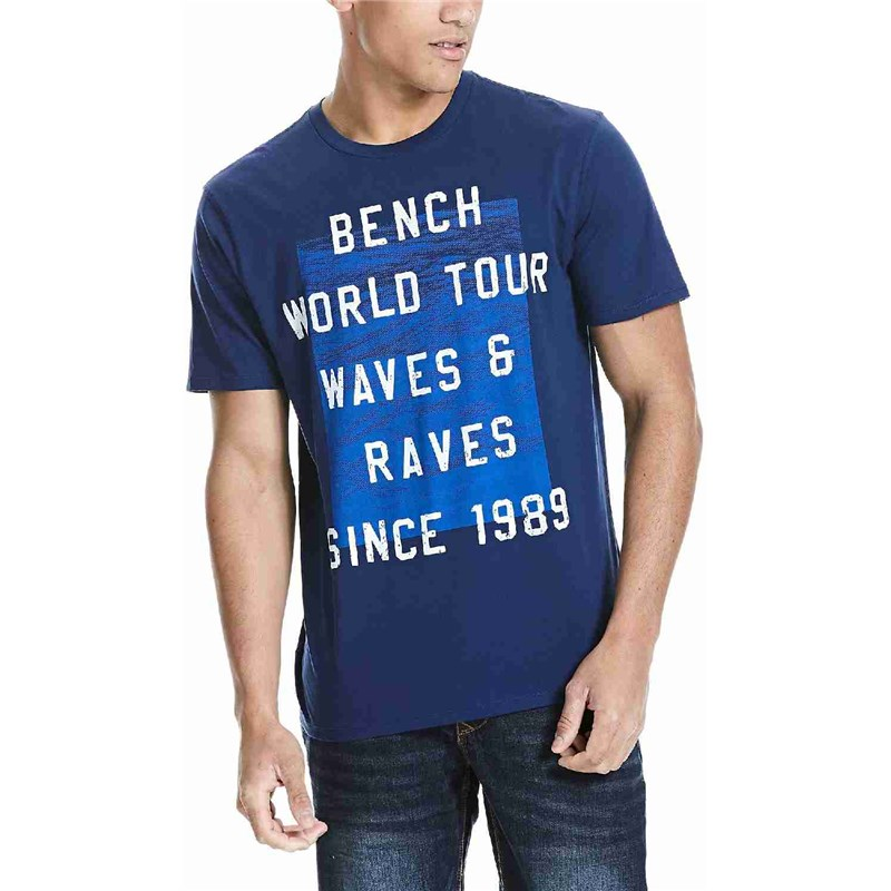 triko BENCH - Graphic Medieval Blue  (NY026)