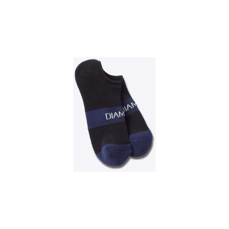 ponožky DIAMOND - No Show Futura Socks Black/Blue (BKBL)