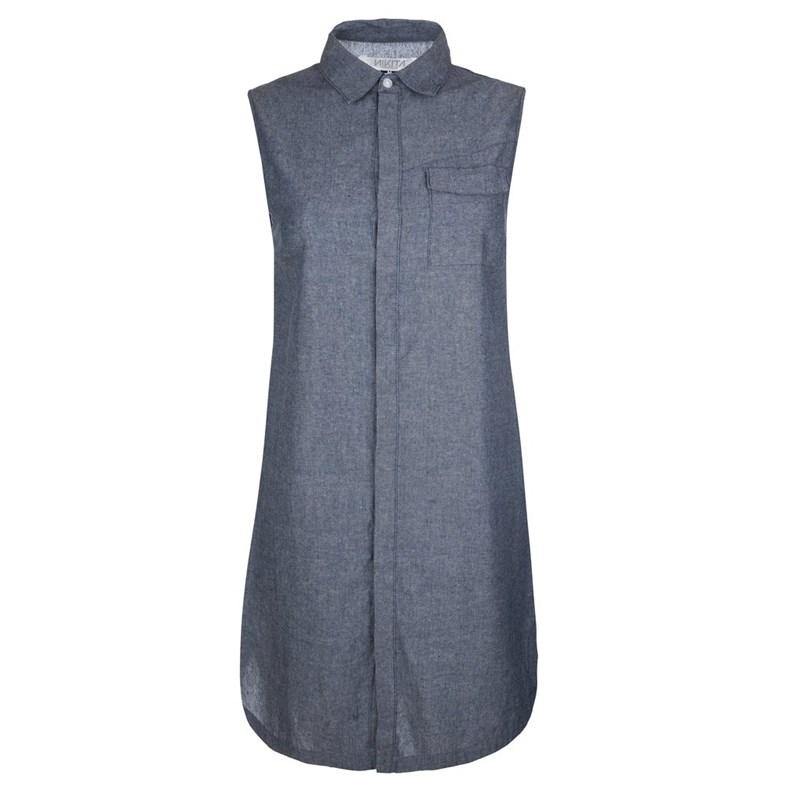 šaty NIKITA - Cats Eye Dress Chambray (CBR)