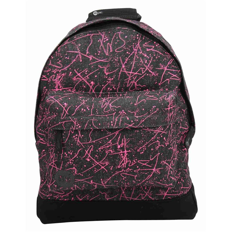 batoh MI-PAC - Denim Squiggle Black/Pink (010)