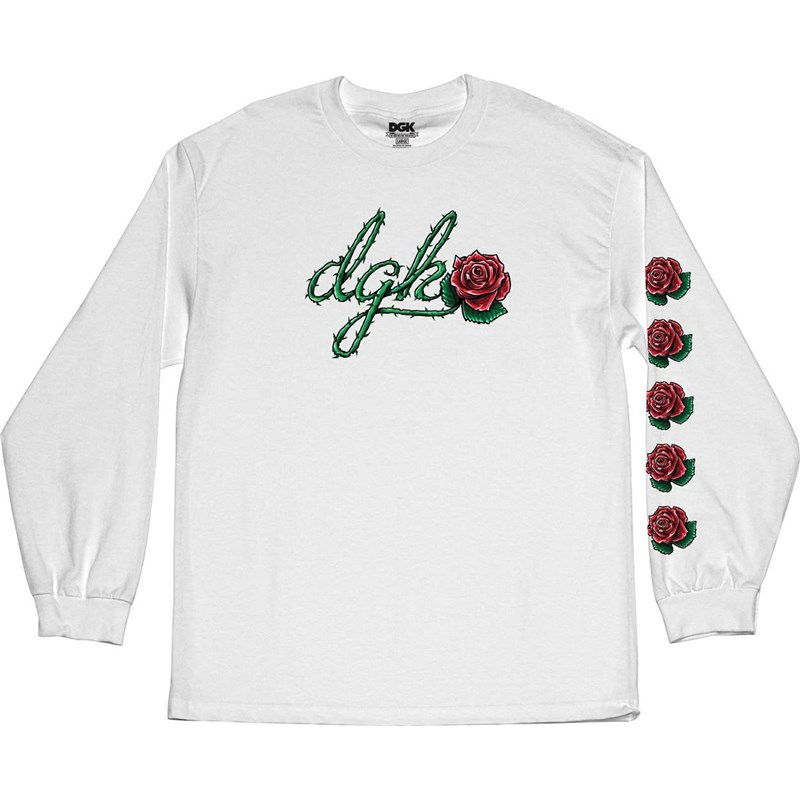 triko DGK - Bloom L/S Tee White (WHITE)