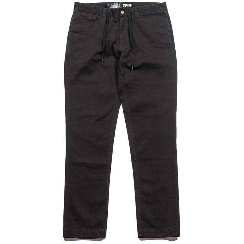 kalhoty GRIZZLY - grizzly refuge chinos black (BLK)
