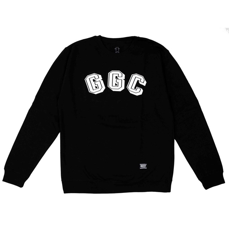 mikina GRIZZLY - Ggc Initials Black (BLK)