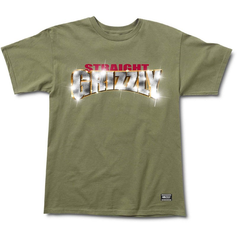 triko GRIZZLY - Straight Grizzly S/S Tee Olive (OLVE)