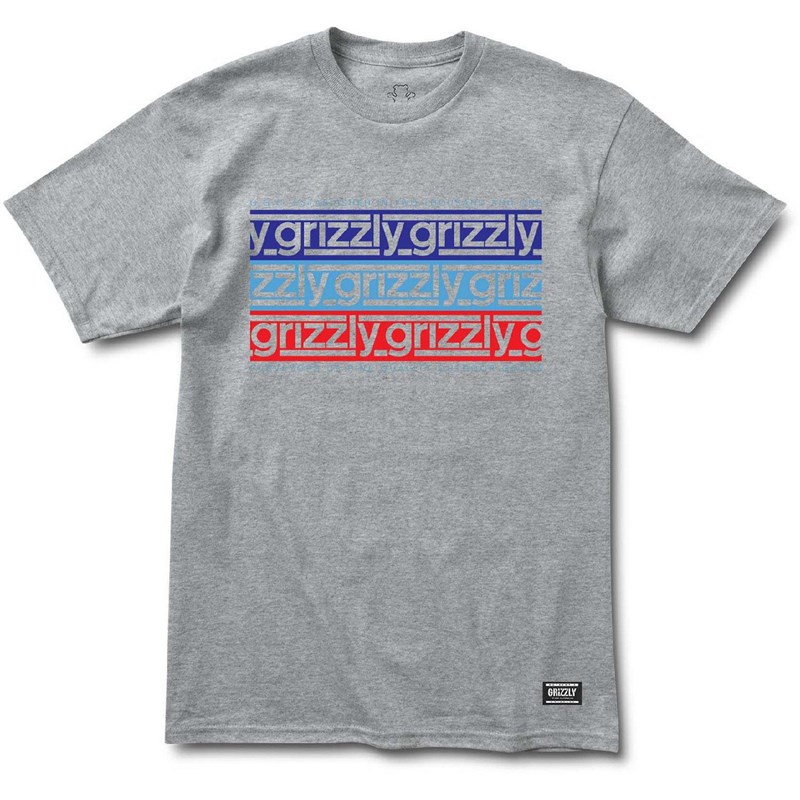 triko GRIZZLY - Birmingham S/S Tee Heather Grey (HTHR)
