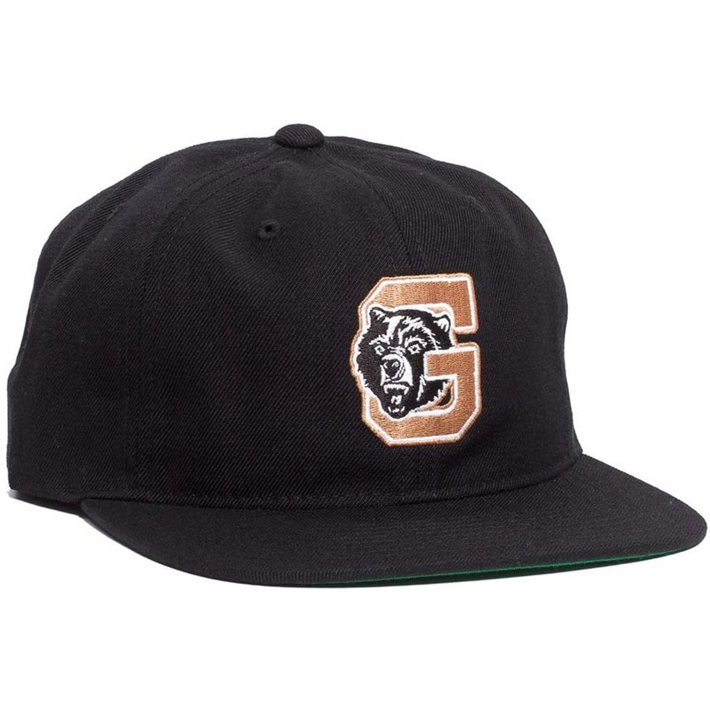 kšiltovka GRIZZLY - North Field Snapback Black (BLK)