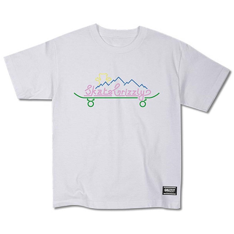triko GRIZZLY - Stay Lit Youth S/S Tee White (WHT)