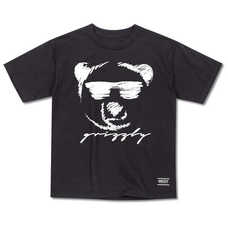 triko GRIZZLY - Coolin Youth Tee Black (BLK)