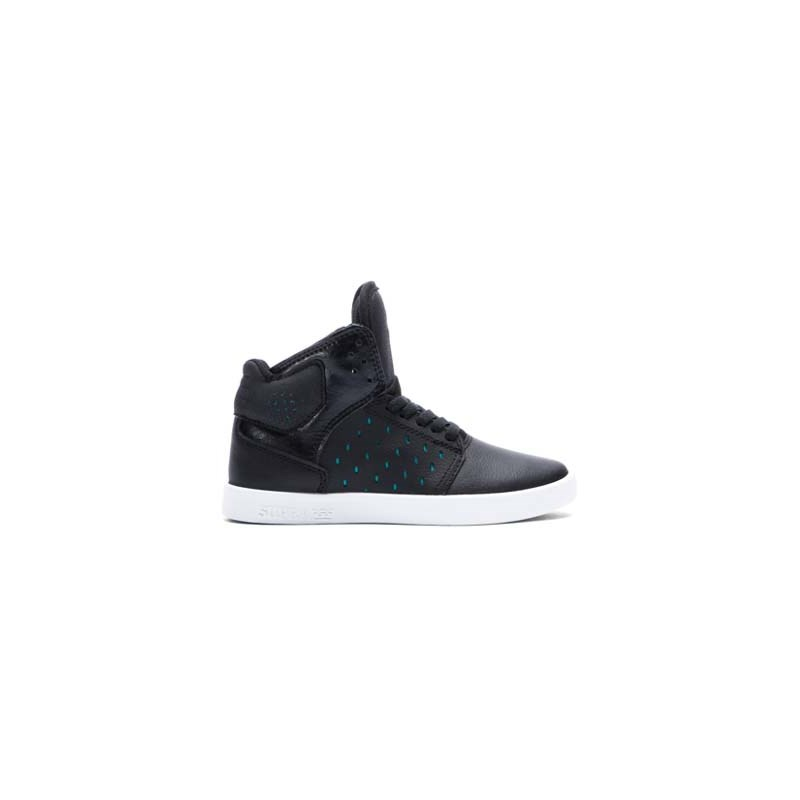 boty SUPRA - Kids Atom Black/Atlantis - White (BLK)
