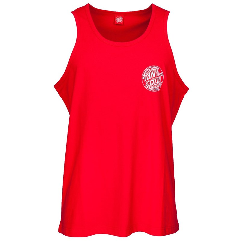 tílko SANTA CRUZ - Fisheye MFG Dot Vest Deep Red (DEEP RED)