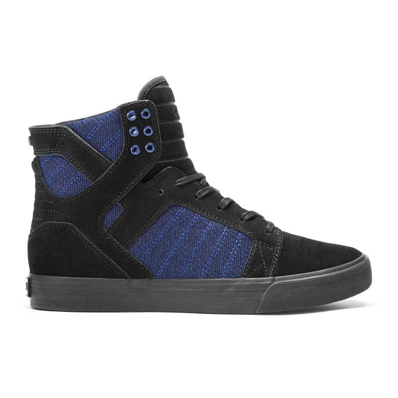 boty SUPRA - Skytop Black/Blue Heather-Black (BKB)