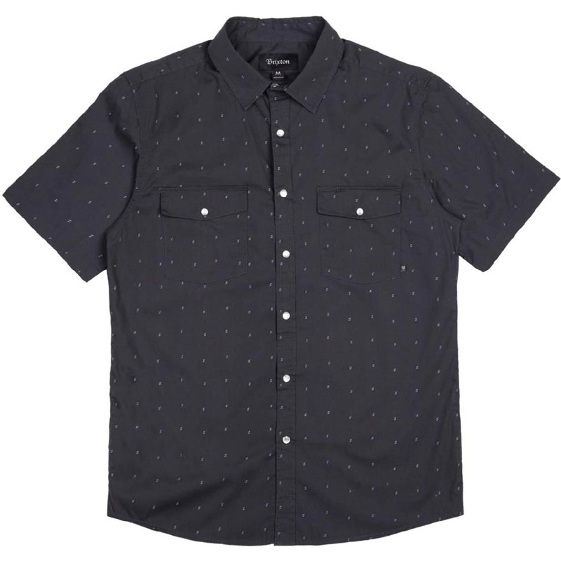 košile BRIXTON - Wayne Washed Black 0141 (0141)