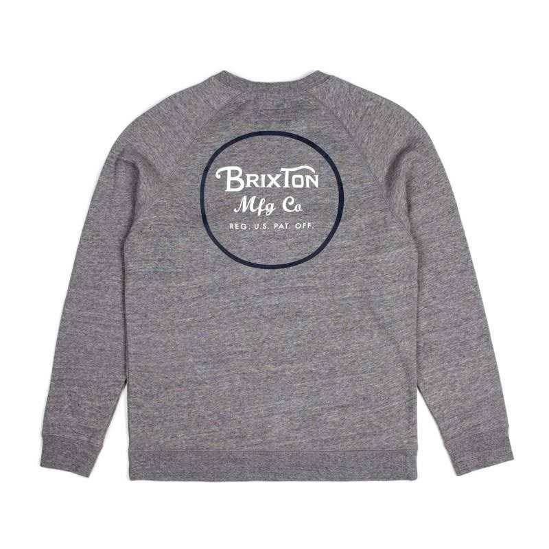 mikina BRIXTON - Wheeler Heather Grey/Navy (HTGNV)