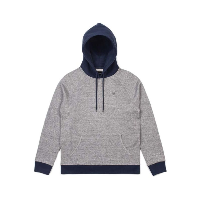 mikina BRIXTON - Huron Heather Grey/Navy (HTGNV)