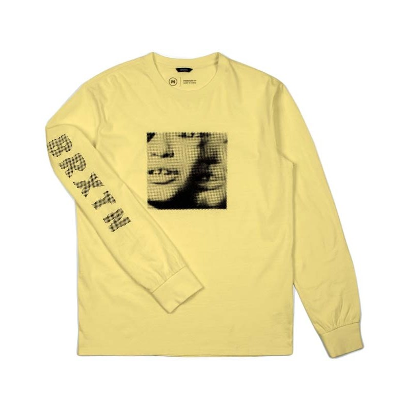 triko BRIXTON - Lens L/S Stt Washed Yellow (WAYEL)