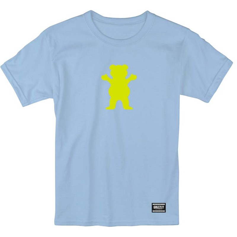 triko GRIZZLY - Og Bear S/S Baby Blue/Neon Yellow (BBNY)