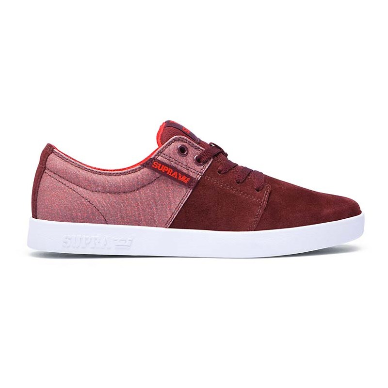 boty SUPRA - Stacks II Burgundy-White (BRG)